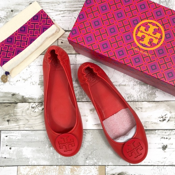 1069cc6b2 Tory Burch Shoes | Minnie Travel Ballet Flats Poppy | Poshmark